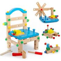 多功能�班椅子拆�b�Q螺�z起子�和�螺母�M合�邮植鹦督M�b益智玩具
