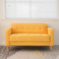 北欧沙发两人坐小型简易双人经济型布艺出租屋小户型租房三二人位
