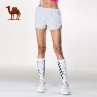 骆驼运动短裤 女款舒适透气运动裤新款夏季休闲跑步健身裤子