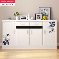 餐边柜简约现代仿实木碗柜客厅储物柜茶水柜多功能厨房厨柜子北欧 双门