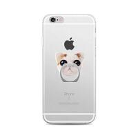 【全国包邮】hidog 苹果iPhone6s手机壳全包透明防摔带指环支架6plus保护套软