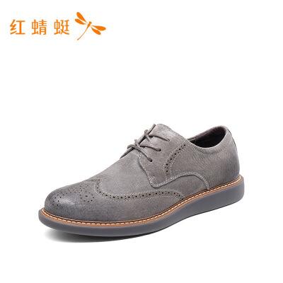 红蜻蜓新款新款秋季休闲男韩版皮鞋潮流英伦百搭鞋子男鞋-