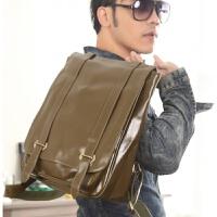 休闲双肩包男士背包韩版学生书包皮时尚潮流运动旅行电脑男包