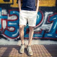 韩版男士色休闲裤潮流修身运动短裤夏季直筒学生裤子青年五分裤