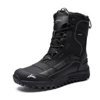 冬季户外男士靴登山鞋雪地靴保暖加绒防水防滑雪鞋作战靴东北棉鞋新品