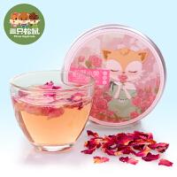 【三只松鼠_小美情迷玫瑰20gx2盒】花草茶苦水玫瑰花茶盒装