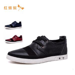 红蜻蜓2018男鞋新款系带百搭男鞋