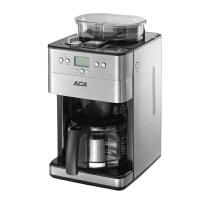 【ACA北美电器旗舰店】AC-M18A 咖啡机全自动磨豆 1.8L美式滴漏家用型 全自动研磨滴咖啡机,磨豆、咖啡、泡茶