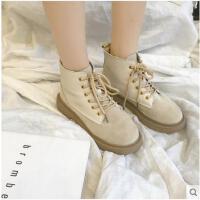 新款短靴秋冬季韩版百搭复古马丁靴女短筒英伦风休闲鞋女学生