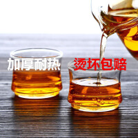 2只装耐热玻璃小茶杯透明品茗杯创意可堆叠杯竹节杯60ML耐热小玻璃杯