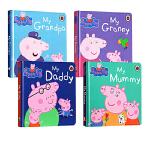 小猪奇佩的一家 英文原版绘本 Peppa's family 粉红佩佩猪小妹纸板书4册全套装 My Daddy Mumm