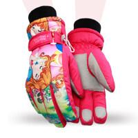 少年防水冬学生防寒大童保暖加绒手套儿童滑雪手套加厚男女