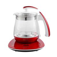 先科(SAST)养生壶 煮茶器 煮茶壶 烧水壶 电热水壶 加厚玻璃花茶壶1.5L 带滤网 烤漆红 土豪金 XH-808D