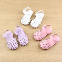 宝宝包头凉鞋夏女童鞋1-2-3岁小孩公主学步鞋子