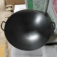 商用电磁炉专用炒锅 不锈钢导磁炒锅双耳单耳40/46/50cm炒锅