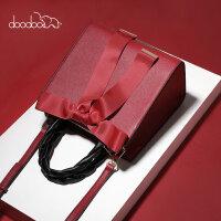 【1件2折:113.6】doodoo每周上新款红色新娘小包包2019新款时尚手提包女单肩斜挎包女包结婚包