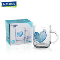PG945 三光云彩glasslock透明玻璃杯卡通水杯茶杯创意把杯子SGYC41水杯