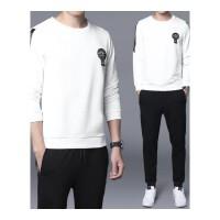 男士长袖T恤套装秋季韩版潮流休闲运动男装两件套青少年束口衣服