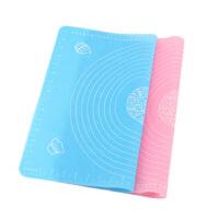 耐高温硅胶垫 大号加厚防滑圈 带刻度 揉面垫烤盘垫 烘焙工具 粉色