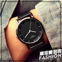 韩版简约男士手表防水时尚潮流休闲学生女表森系情侣手表
