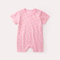 新生儿衣服夏季外出短袖爬爬服6宝宝连体衣3个月婴儿哈衣夏装薄款