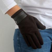 触屏防风防寒加厚全指骑行爬山手套户外触屏抓绒男保暖手套