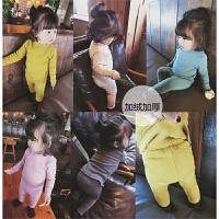 女童冬季装新款加绒套装小女孩木耳边家居服加厚保暖两件套
