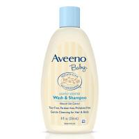 【二合一236ml】美国直邮 Aveeno艾维诺 婴儿燕麦洗发沐浴露2合1 8oz浅蓝 海外购