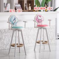 实木吧台椅子现代简约高脚凳靠背吧椅家用收银台酒吧凳前台高凳子