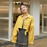 牛仔外套 女士学生个性宽松短款口袋牛仔外套2020秋季新款韩版时尚女式休闲开衫女装牛仔衣