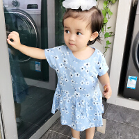 婴儿连体衣服宝宝新生儿季爬服01岁9个月春款短袖休闲睡衣