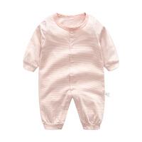 宝宝婴儿连体衣1岁7个月季新生儿睡衣休闲长袖哈衣爬爬服款