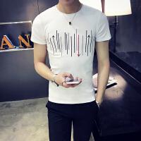 2018夏装男士短袖t恤 韩版潮学生圆领半袖体恤个性男装小衫上衣服