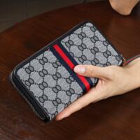 女士钱包长款帆布拉链多功能大容量大气手拿包女式钱夹2018新款