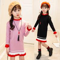 女童秋季毛衣韩版时尚中长款毛衣潮衣