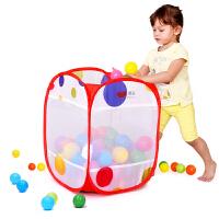 澳乐收纳宝宝海洋球球池游戏屋方便携带海洋球收纳筐大容量 小号圆点收纳框