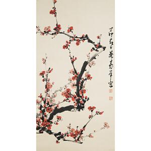 E126 董寿平 款《梅花》(北京文物公司旧藏)