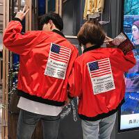 春秋装两面穿情侣外套韩版学生宽松bf棒球服短款男薄款飞行夹克潮