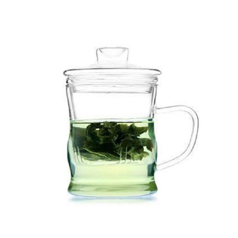 耐热玻璃杯 创意三件式泡茶杯过滤带盖套装茶具