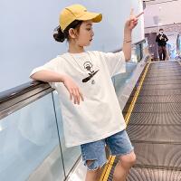 女童t恤儿童夏装短袖洋气中大童夏季半袖童装