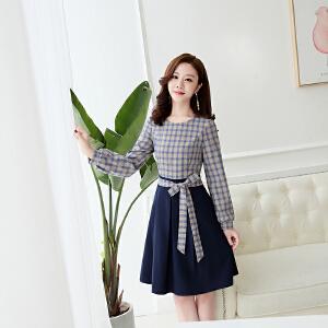 秋款裙子秋裙新款女2018女装秋天衣服韩版气质有女人味的连衣裙潮