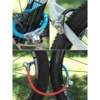 户外山地公路车便携环形锁 自行车迷你锁 圈锁防盗钢缆锁