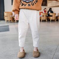 儿童裤子加绒加厚 双12新款童装保暖休闲裤冬装女童宝宝运动卫裤