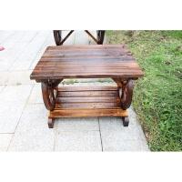 防腐木餐桌椅咖啡户外实木碳化烧烤酒吧桌椅仿古桌凳阳台桌椅休闲 单人茶几