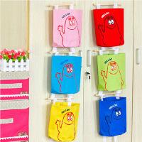 快五彩挂袋 可爱多层墙上门后收纳挂袋 挂式收纳袋壁挂储物袋置物袋 颜色随机(2只装)