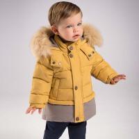 戴维贝拉冬季羽绒服 男童加厚90绒羽绒服DB5927