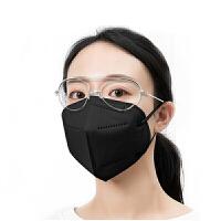 爱丽思日本kn95口罩立体一次性防尘透气男女防雾霾三层防护用品现货黑色6片