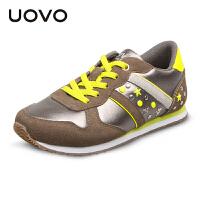 UOVO2017春秋季童鞋男童鞋女童鞋小大童儿童运动鞋透气轻便儿童休闲鞋优品 巴西利亚
