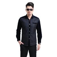 商务男士衬衫加绒加厚男士保暖衬衫长袖男式衬衫