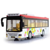 天鹰 独立装仿真合金公交车模型 儿童空间大巴士玩具车